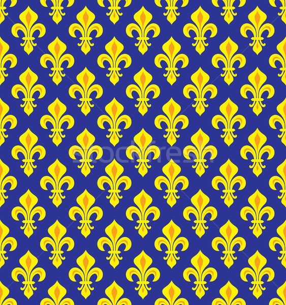 Royal Heraldic Lilies, seamless pattern Stock photo © Glasaigh