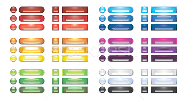 Ensemble Rainbow web boutons groupe balle Photo stock © Glasaigh