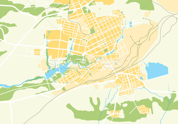 Vector Geo Map of The City Stock photo © Glasaigh