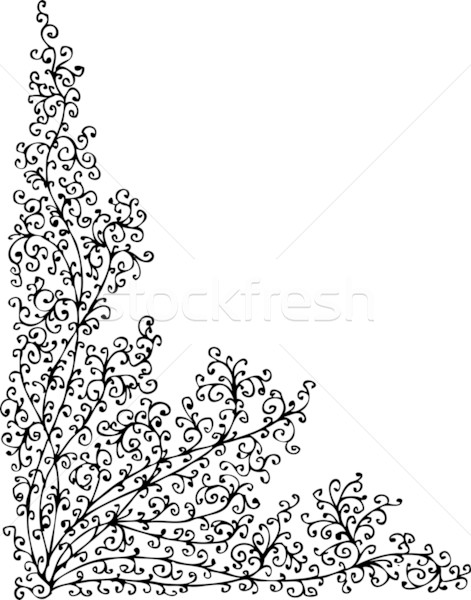 Baroque Pattern vignette LXI Stock photo © Glasaigh