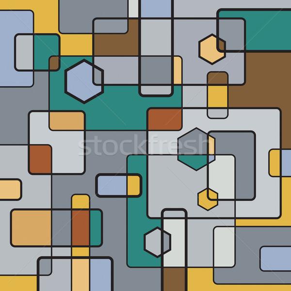 Macchina non senza soluzione di continuità costruzione nero pattern Foto d'archivio © Glasaigh