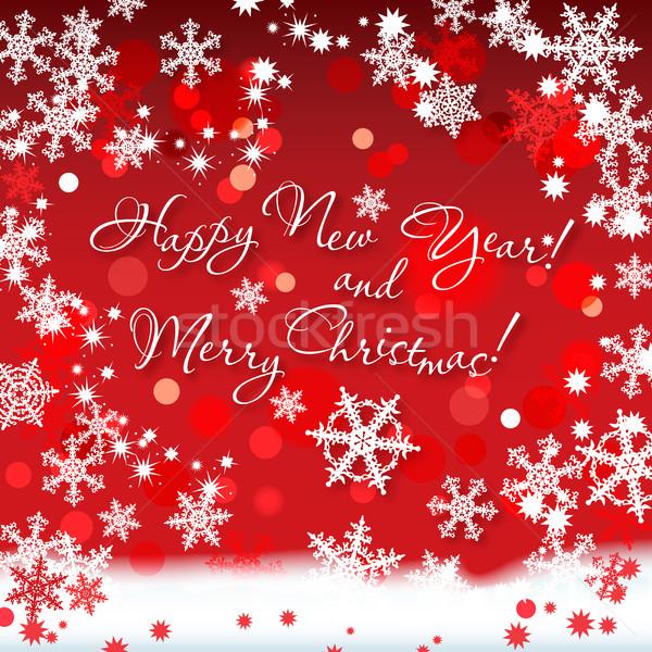 Buon anno allegro Natale celebrare festival vacanze Foto d'archivio © Glasaigh