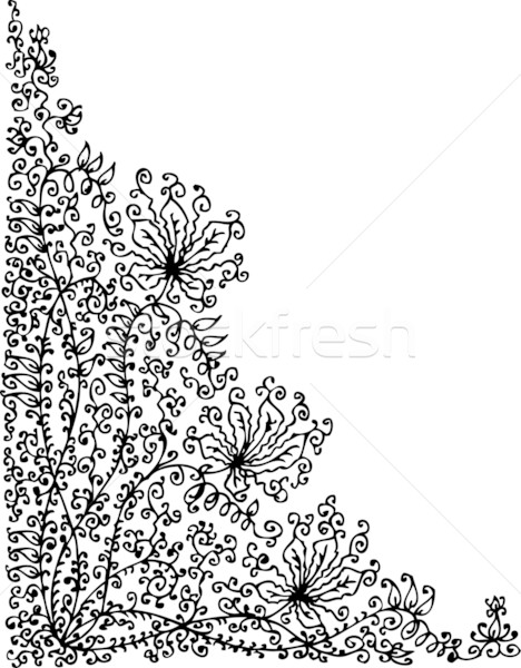 Refined Floral vignette LXIX Stock photo © Glasaigh