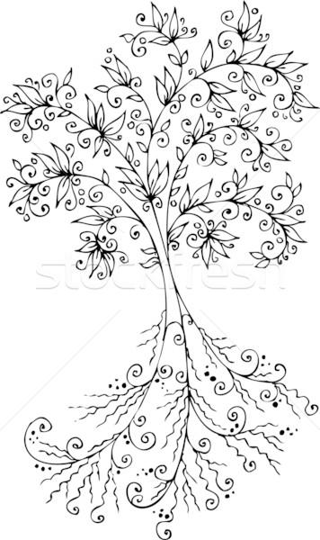 Floral décoratif arbre texture eps8 nature Photo stock © Glasaigh