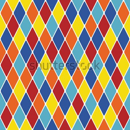 Harlequin parti-coloured seamless pattern 3.1 Stock photo © Glasaigh