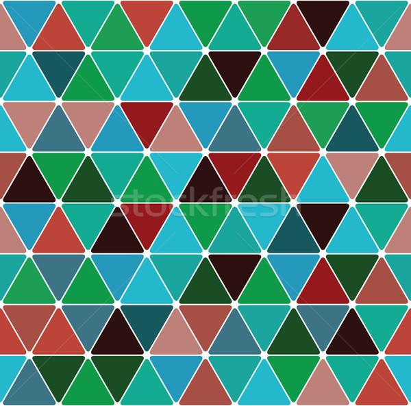 Triángulo patrón sin costura azulejo textura fiesta Foto stock © Glasaigh