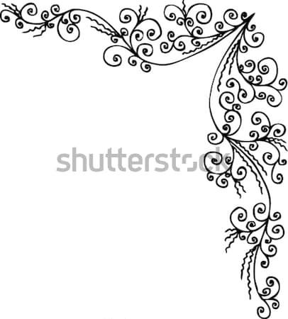 Virágmintás dekoratív textúra eps8 terv szépség Stock fotó © Glasaigh
