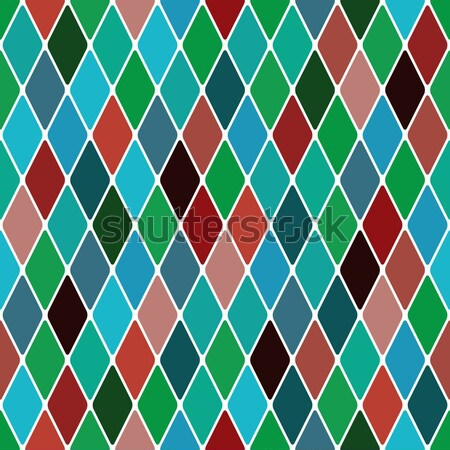 Harlequine Esmerald seamless pattern Stock photo © Glasaigh