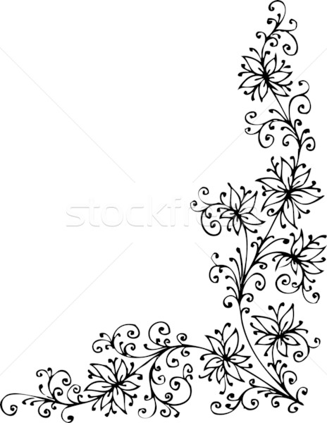 Floral vignette CDVII Stock photo © Glasaigh