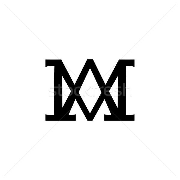 Christelijke monogram maagd moeder god koningin Stockfoto © Glasaigh