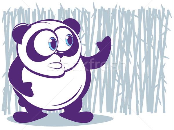 パンダ かわいい 竹 黒 小さな クマ ストックフォト © gleighly