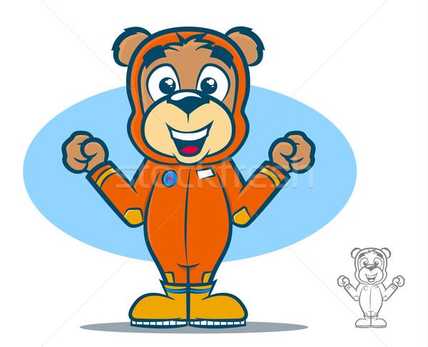飛行 スーツ クマ かわいい テディベア 漫画 ストックフォト © gleighly