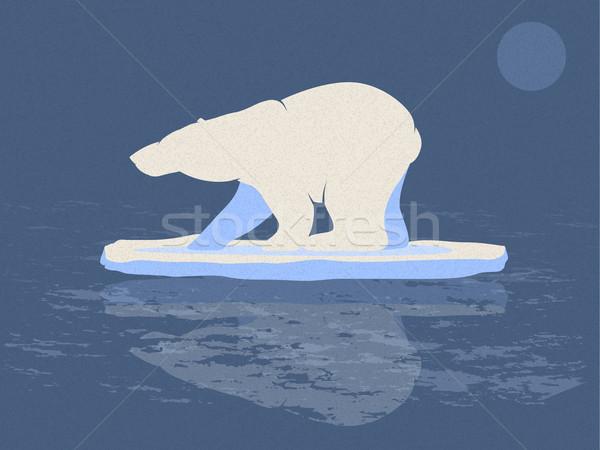 Polar Bear Illustration Stock photo © gleighly