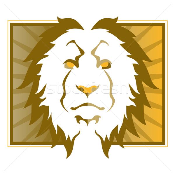 ライオン 頭 実例 猫 デザイン 芸術 ストックフォト © gleighly