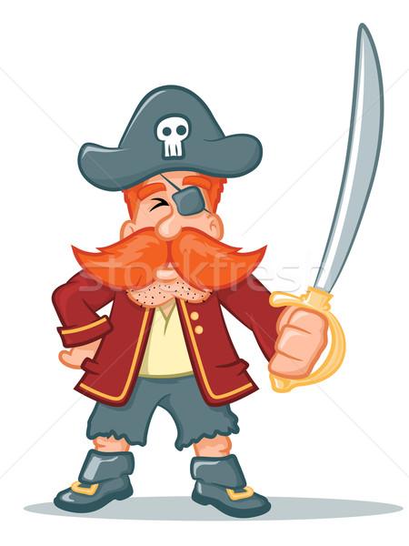 海賊 漫画 実例 文字 笑顔 芸術 ストックフォト © gleighly