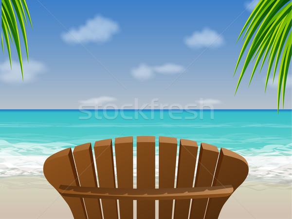 実例 木製 ビーチ 海 夏 ストックフォト © gleighly