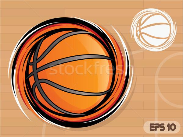 バスケットボール アイコン 裁判所 チーム マスコット スポーツ ストックフォト © gleighly