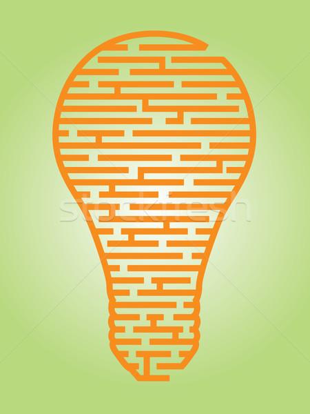 電球 迷路 実例 複雑な 考え ストックフォト © gleighly