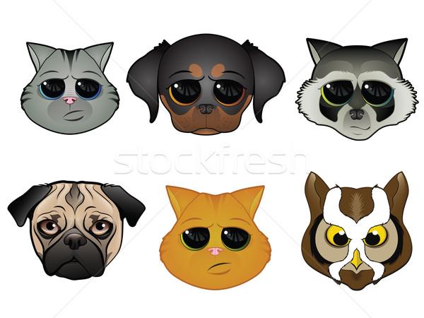 動物 顔 アイコン 犬 猫 その他 ストックフォト © gleighly