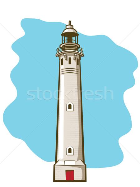 灯台 実例 ヴィンテージ レンガ 建物 光 ストックフォト © gleighly