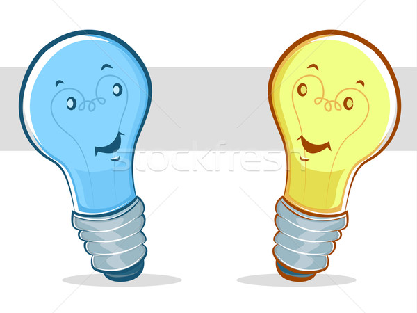 青 黄色 漫画 抽象的な 光 ストックフォト © gleighly