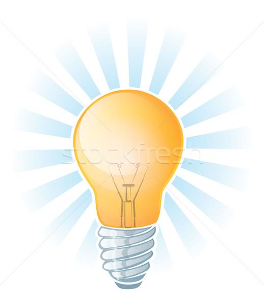 電球 実例 光 技術 背景 ストックフォト © gleighly