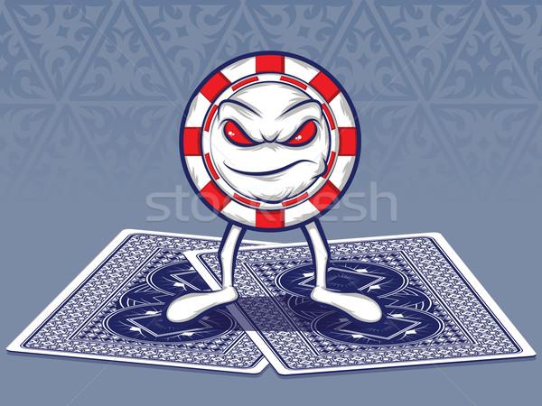 ポーカー 顔 チップ 文字 立って 2 ストックフォト © gleighly