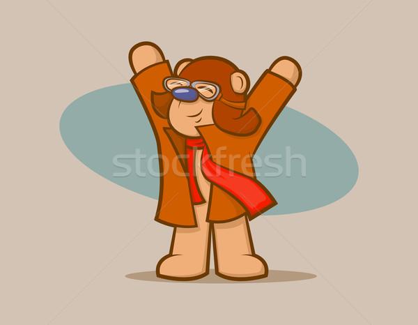 クマ かわいい ヴィンテージ 着用 ゴーグル スカーフ ストックフォト © gleighly