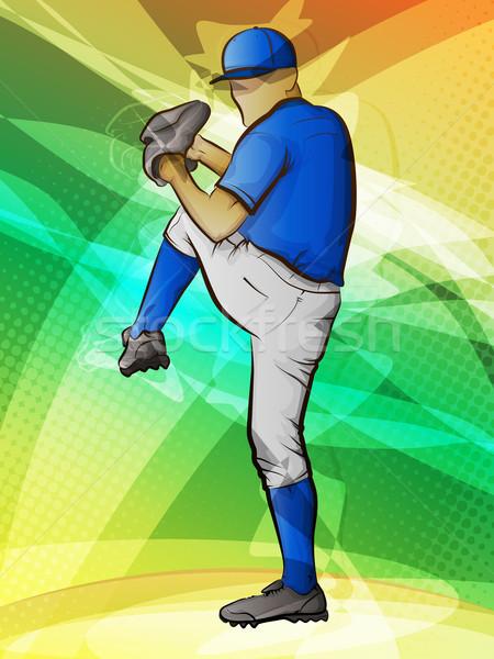 野球 抽象的な スポーツ フィットネス 健康 夏 ストックフォト © gleighly