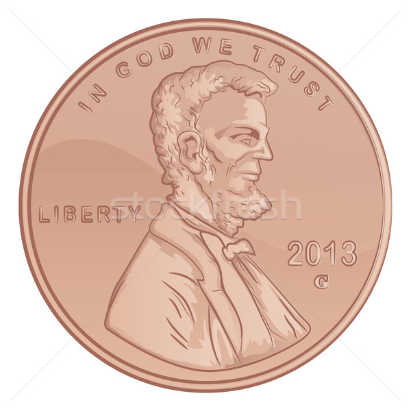 Penny Illustration Stock photo © gleighly