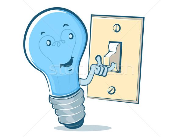 電球 漫画 電球 文字 技術 緑 ストックフォト © gleighly