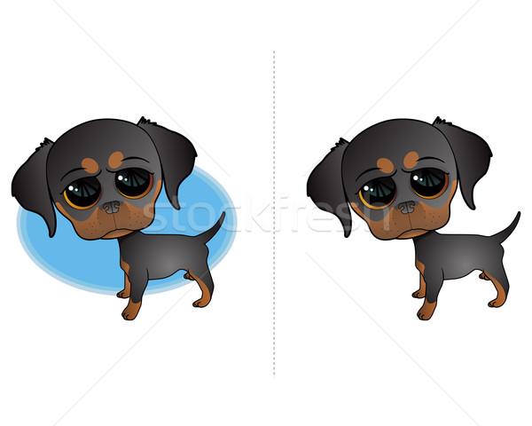 犬 アイコン かわいい 子犬 実例 芸術 ストックフォト © gleighly