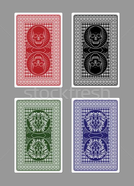 カスタム 演奏 カード デザイン 頭蓋骨 ポーカー ストックフォト © gleighly