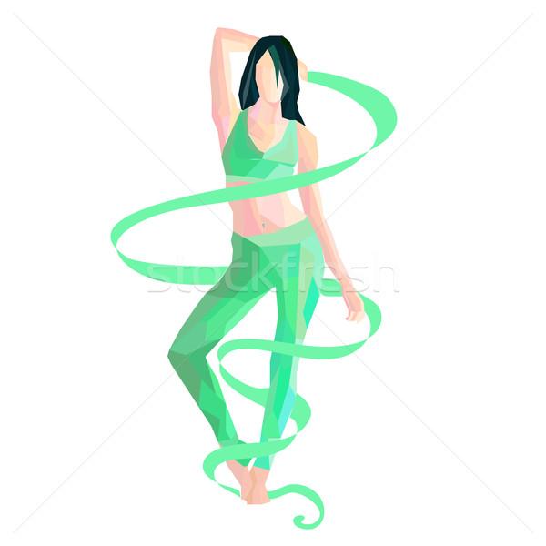 gymnast with ribbon Stock photo © Glenofobiya