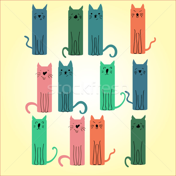 çok renkli kedi ışık kediler farklı Stok fotoğraf © Glenofobiya