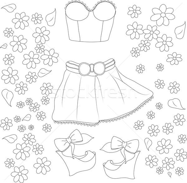 Stock fotó: Gyűjtemény · nyár · ruházat · háttér · szín · láb