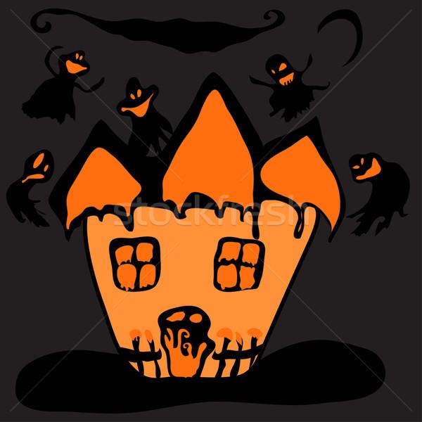 Haunted halloween  house Stock photo © Glenofobiya