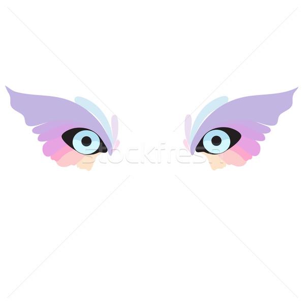 Szem ikon szemek ahogy farkas bagoly Stock fotó © Glenofobiya