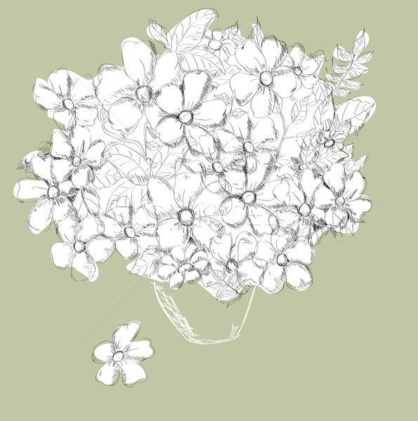 Dekoratív virágmintás virágok természet levél művészet Stock fotó © Glenofobiya