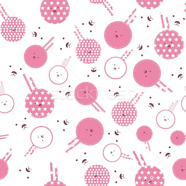 Vector - texture with pink bunnies Stock photo © Glenofobiya