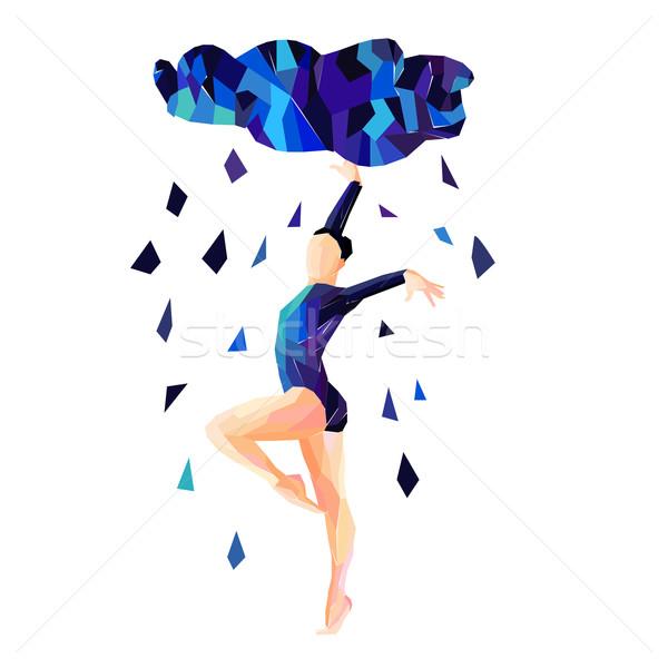 388a8a1b0 Abstract image of a dancing girl vector illustration © Anastasiya ...