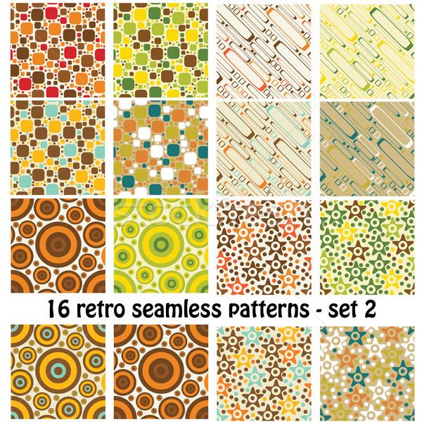 Retro minták végtelenített minták szett terv művészet Stock fotó © glorcza