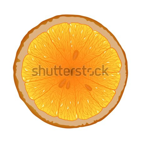 Fatia de laranja laranja branco natureza fruto café da manhã Foto stock © glorcza