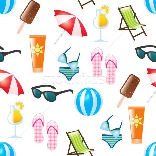 summer seamless pattern Stock photo © glorcza