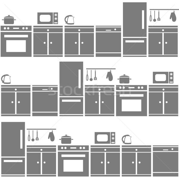 台所用品 家 デザイン ホーム ファブリック ストックフォト © glorcza