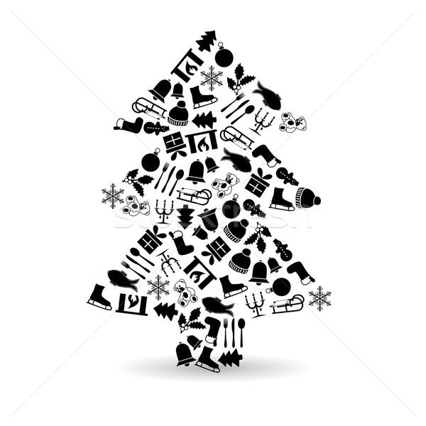 weihnachtsbaum baum schnee zeichen web gabel. Black Bedroom Furniture Sets. Home Design Ideas
