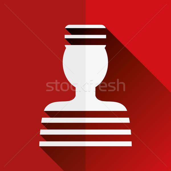Prisonnier icône design droit informations graphique Photo stock © glorcza