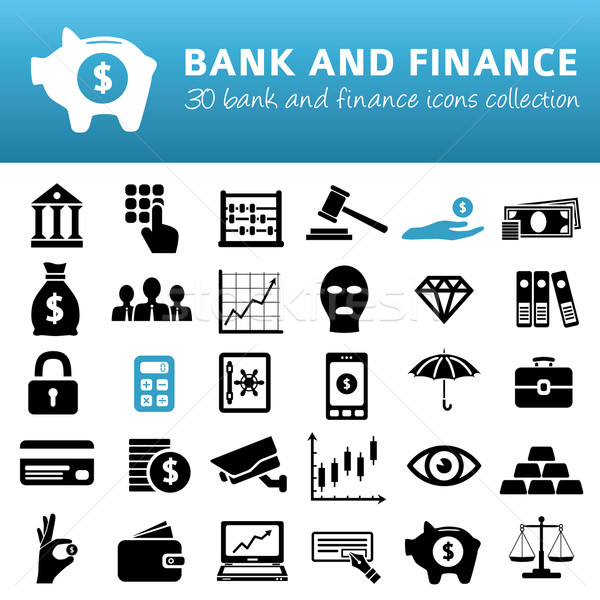 bank and finance icons Stock photo © glorcza