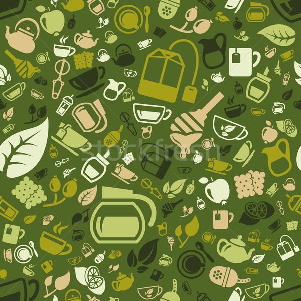 tea seamless pattern Stock photo © glorcza