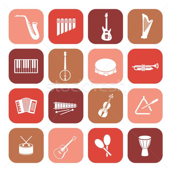 music instruments icons Stock photo © glorcza